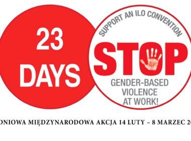 obraz dla wpisu: Stop przemocy w miejscu pracy! Chcemy konwencji MOP!