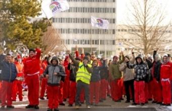 obraz dla wpisu: Potężny strajk w węgierskiej fabryce Audi!