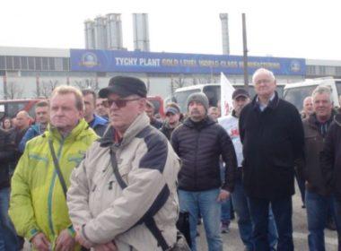 obraz dla wpisu: Pracownicy tyskiej fabryki Fiata znów protestowali