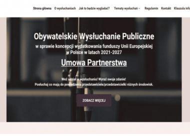 obraz dla wpisu: Obywatelskie Wysłuchanie Publiczne w sprawie koncepcji wydatkowania funduszy Unii Europejskiej w Polsce w latach 2021-2027